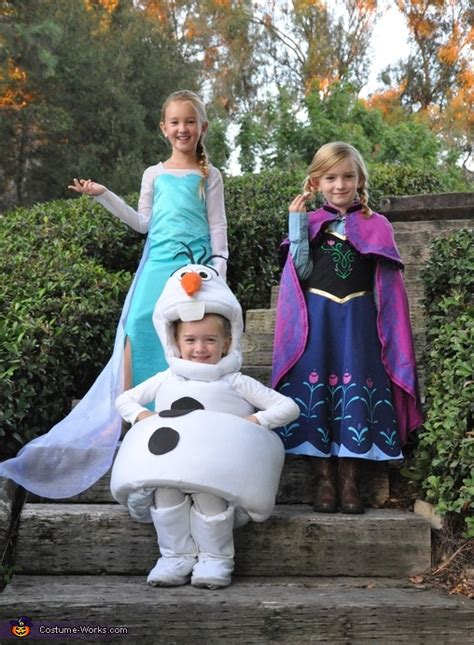 Frozen Elsa, Anna and Olaf Costumes