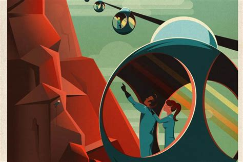 SpaceX's Retro Tourism Posters Invite You to Fabulous Mars