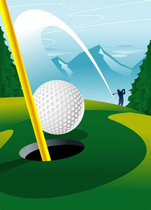Golf Course 1 Hole Vector Graphic| Graphic Hive