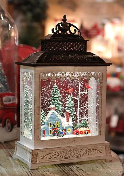 11 Inch Home For The Holidays Lighted Snow Globe With