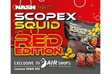 Nash Baits Scopex Squid Red Wafters 15mm - Johnson Ross Tackle