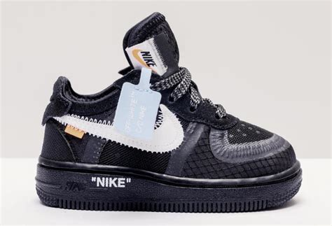 Off-White x Nike Air Force 1 Kids Sizing Release Info