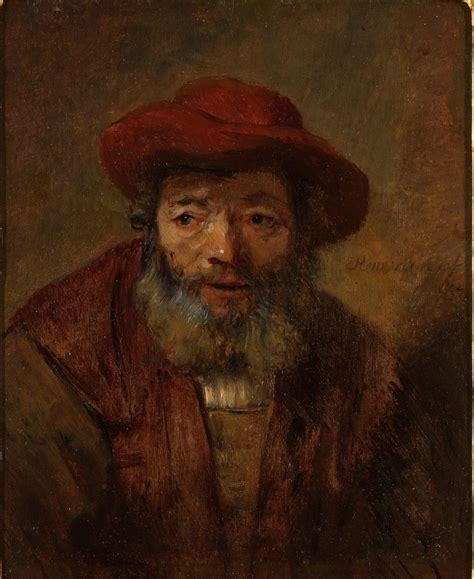 """""""Portrait of an Old Man with a Beard and Red Hat"""